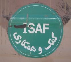 Isaf-Wappen auf Fahrzeugtür